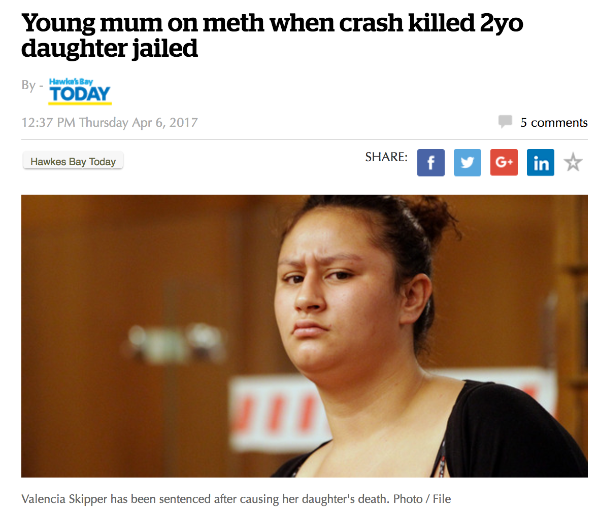 Young mum on meth