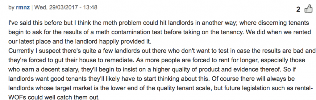 Tenants asking for a Meth Test